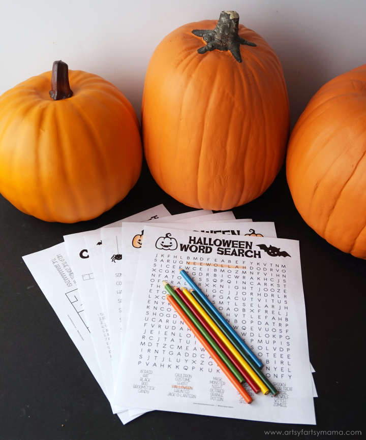 Free Printable Halloween Activity Pack for kids